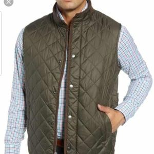 Quilted Vest Classic Fit Olive Color Size XL